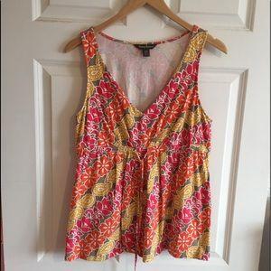 Tommy Bahamas Women's Floral Sleeveless Shirt Sz L